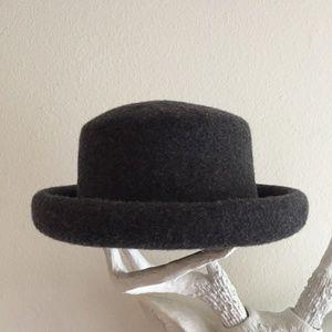ce9f1d3a29e35 Topshop Accessories - Topshop Charcoal Grey Felt Bowler Style Hat